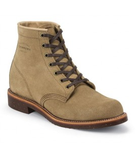 Chippewa men's khaki suede service boots 6 inch