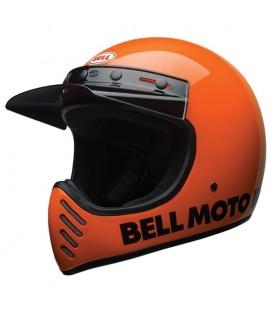 Classic fluo orange motorcycle Bell Helmet 3