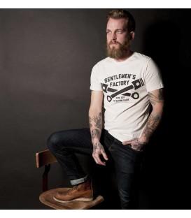 T-shirt pistons - blanc vintage