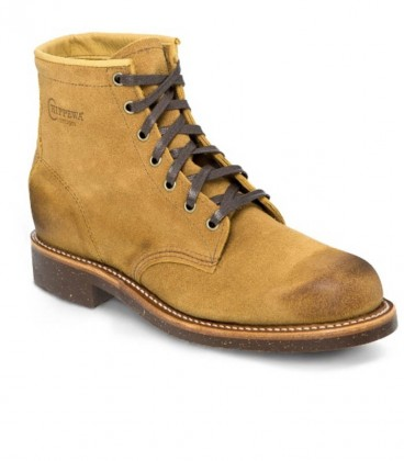 TAN ROUGH OUT GENERAL UTILITY-Chippewa boots