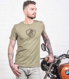 "Kaky ""Turn left"" authentic & retro motorcycle t-shirt"