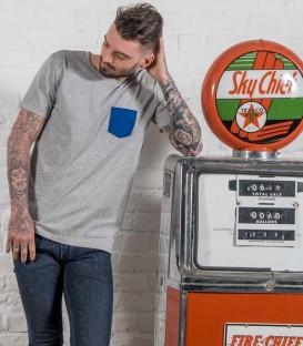 "Motorcycle tee-shirt ""cigaret pocket"""