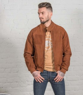 Motorcycle suede jacket Steve