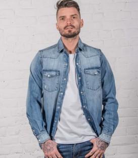 Rusty Dude : chemise en jean destroy