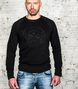 "Embroidery ""victoire black"" sweat-shirt"