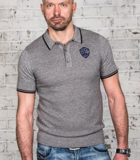 Sixties grey champion polo