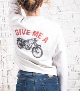 woman Ride fast boyfriend T-shirt