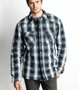 Sur-chemise kevlar bleu