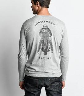 Grey Biker long sleeves tee-shirt