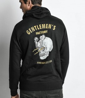 Sweat-shirt capuche skull black mec !