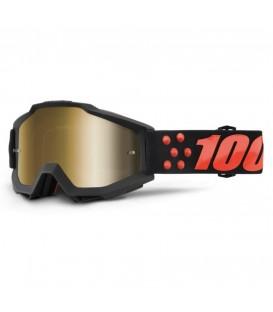 MX Motorcycle pilot goggles Accuri Gernica - Mirror gold lens