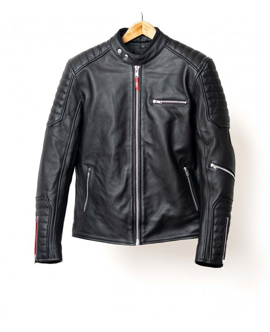 Black leather jacket lascar