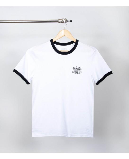 Tee-shirt blanc biker vintage garage français