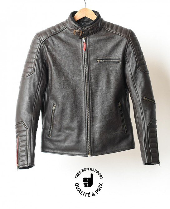 Moka leather jacket Arsouille
