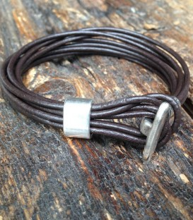 bracelet with black matt nuts