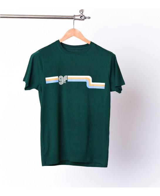 Tee-shirt 70's waves - Green