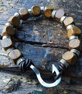 braided leather bracelet colour brown  double wrap rope  and accessories