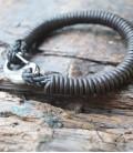 bracelet homme indian motor cuir marron foncé