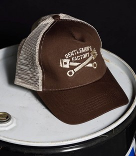Cap trucker brown