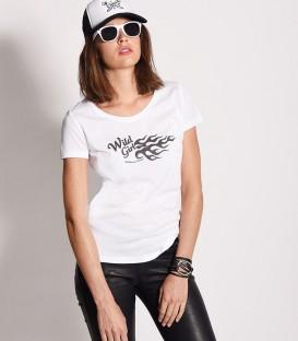 "tee-shirt ""wild girl"" blanc"